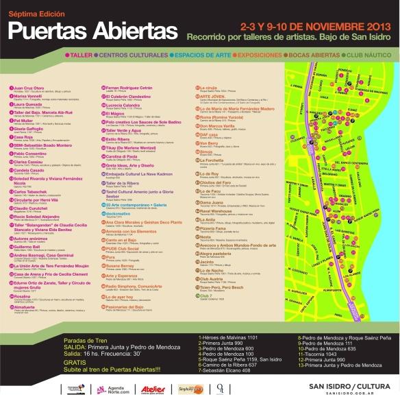 2013 11 puertas abiertas mapa